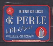 Ancienne étiquette Bière Alcool France Brasserie   Perle La Pils d'Alsace