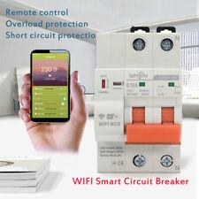 2020 WIFI Circuit Breaker Smart Switch Remote Control By Tuya/Smart Life APP US#