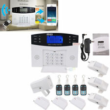 Wireless LCD SMS GSM Burglar Fire Alarm System Auto Dialer Home Security Safe ^K