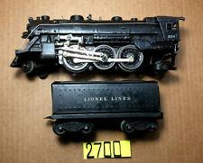 Lionel O Gauge # 224 Steam Locomotive & 6654W  Whistle Tender