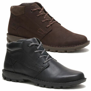 Mens Caterpillar Convert Leather Casual Ankle Chukka Boots Shoes Sizes 7 to 12