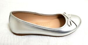 NEW! Girl's SO Candy Ballet Flats 212984 - Silver 198B m