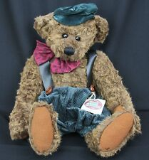 """Ganz Cottage Collectibles Teddy Rousseau Large Plush Bear Dressed Overalls 21"""""""