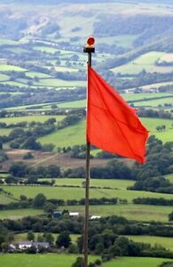 GENUINE BRITISH ARMY RED 4' X 3' RANGE FLAG NEW PORTER BROS, LIVERPOOL 1993
