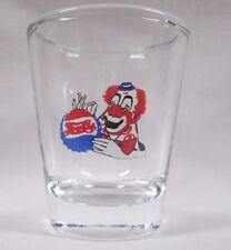 Pepsi-Cola Clown Logo on Clear Shot Glass