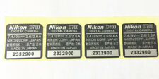 NEW Nikon D700 Base Bottom Serial Number Nameplate Label Sticker Body Code Logo