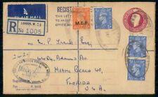 Mayfairstamps Great Britain 1941 London Uprated Registered MEF Overprint Station