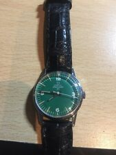 RARE VINTAGE OMEGA SEAMASTER 30 MANUAL WIND CAL:285 GREEN DIAL MAN'S WATCH