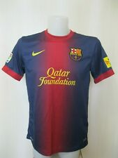 FC Barcelona 2012/2013 home Size M Nike shirt jersey maillot soccer Barca Unicef