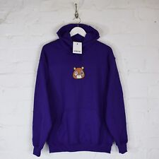AF Kanye West New Dropout Bear Embroidered Purple Hooded Sweatshirt Hoodie Top