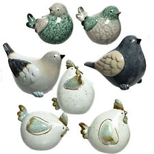 Small Bird Garden Ornaments Accessories Gift Terracotta Ceramic Miniature Statue