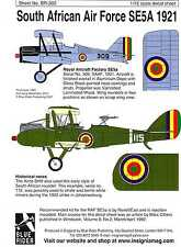 Blue Rider Decals 1/72 SOUTH AFRICAN AIR FORCE SE5a Fighter in 1921