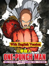 Anime DVD: One Punch Man *English Version*(Ep.1-12 + Ova + 6 Special)+Extra DVD
