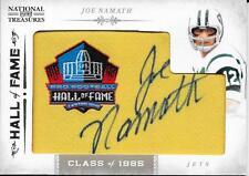 RARE JOE NAMATH SIGNED PANINI NATIONAL TREASURES CARD~33/45~FOOTBALL HOF AUTO