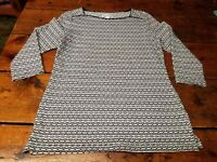 Kim Rogers Women's Casual/Dress Pullover Black and White Long Sleeve Size small