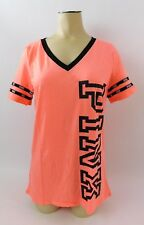 Victorias Secret PINK Perfect V Neck Tee T Shirt Coral Black Friday 2017 Size M
