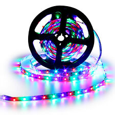 5M/16.4ft RGB 3528 SMD LED Strip Light Flexible 12V 60Leds/M Lamp Non-Waterproof