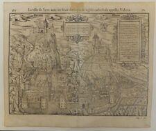La ville de Sion Suisse Cosmographia universalie de Munster XVIè S. Bois gravé