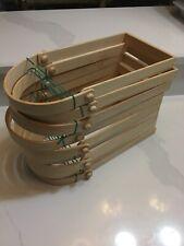 Lot 9 New Basket Making Supplies- Swinging Handles Ash Square D 6 x 9 x 13