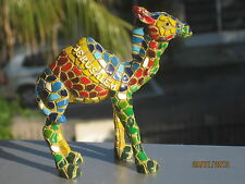 Lot 2 Exclusive collectiIble mosaic style camel figurines israel souvenir decor