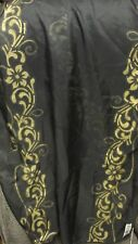 """""""""""BLACK WITH GOLD SCROLL BORDER - AMANDA SMITH"""""""" - SHEER  SCARF - MADE IN ITALY"""