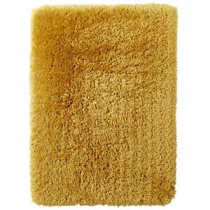 Think Rugs Polar Contemporary Super Soft Thick Pile Quality Shaggy Yellow Rugs