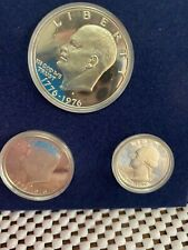 1976 United States Mint Bicentennial 40% Silver Proof 3 Piece Set