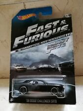 1 Hot Wheels '08 DODGE CHALLENGER SRT8 Fast & Furious . A todo Gas. Oficial