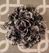 """New listing 4"""" Black & White Dog Collar Flower"""