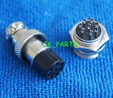 10pcs Aviation Plug Male & Female Metal Connector 16mm 8 Pin GX16-8