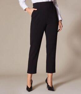 Karen Millen Belted Tailored Trousers Black Uk 6 / Eu 34/ Us 2 RRP £140.00