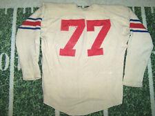 VTG Old 1930's Antique Leather Helmet Era WOOL Game Used Worn Football Jersey