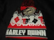 NWT Adult Harley Quinn Cuff Pom Beanie Hat DC Comics Batman Villian
