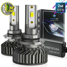 Syneticusa 9006 CSP LED Headlight Kit 6000k White High Low Fog Beam Light Bulbs