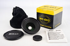 Nikon WC-E63 Wide Angle Converter Lens in Box with Caps & Case for Coolpix V13