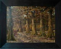 E. Heydkamp - Partie aus der Heide (Celle Hann) - Öl auf Leinwand - 1938