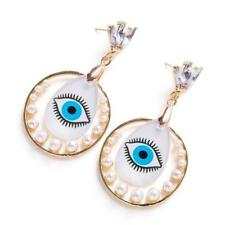 CG3151...RHINESTONE, PEARL & ACRYLIC EYE EARRINGS - FREE UK P&P