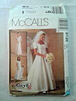 McCalls 9135 Misses Bridal Gown Bridesmaid Sewing Pattern Size 12-16 OOP UNCUT