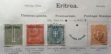 Italy Eritrea stamp lot mint used hinged to 19th C album page