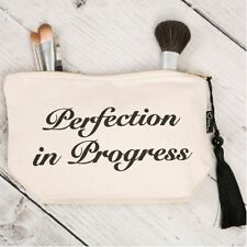 Make-up/Cosmetic/Toiletry Bag 'perfection in progress' Slight Seconds-Faulty