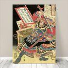 "Vintage Japanese SAMURAI Warrior Art CANVAS PRINT 24x18""~ Kuniyoshi #275"