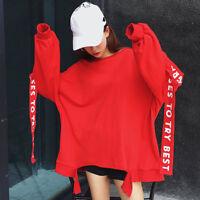 Harajuku Style Spring Autumn Sweater Loose Ribbon Decor Long Sleeve Jacket Tops