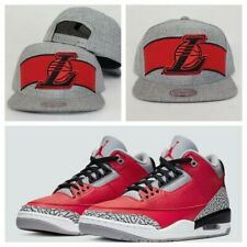 Mitchell & Ness Los Angeles Lakers snapback Hat For Jordan 3 Fire Red