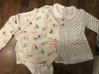Girls Mini Boden Farmyard Body Suit & Jasper Conran Tunic Top, 0-3 Months, Perfe