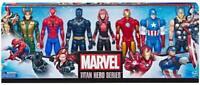 "NEW & SEALED Marvel Titan Hero Series 7 x 12"" Action Figure Pack inc Rare Loki"