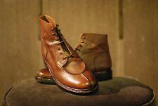 Grenson Grover Boots - 9uk - Brown Grain Leather & Commando Sole