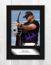 Toby Keith (3) A4 signed mounted photograph picture poster. Choice of frame.