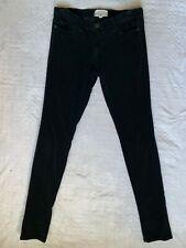 CURRENT ELLIOT WOMEN'S BLACK VELOUR SOFT STRETCH SKINNY LEG PANTS size 28