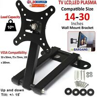 Tilt Swivel TV Wall Mount Bracket For 14 - 30 Inch LCD LED Plasma Flat Monitor