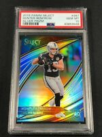 HUNTER RENFROW 2019 PANINI SELECT #287 FIELD LEVEL SILVER PRIZM ROOKIE RC PSA 10